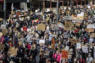 """""""Pas de justice, pas de paix"""": mobilisation massive à Washington"""