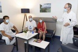 Le patient français en visite à l'HFR