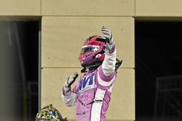 Sergio Perez voit la vie en rose