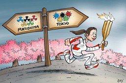 Symbole fort: la flamme olympique part de Fukushima