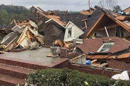 Cinq morts dans l'Alabama, traversé par des tornades