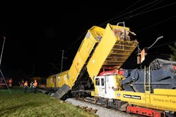 Trains de chantier accidentés près de Cazis (GR)