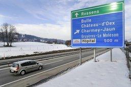 L'A12 fermée entre Bulle et Rossens durant les nuits du 6 au 8 avril