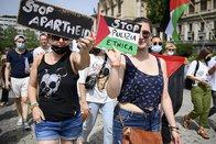 Manifestation de soutien aux Palestiniens à Lausanne
