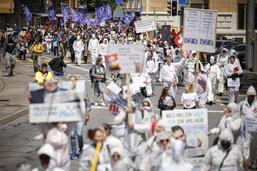 Manifestation contre les mesures anti-Covid-19 à Neuchâtel