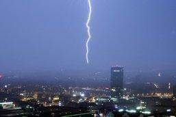 De violents orages s'abattent sur la Suisse