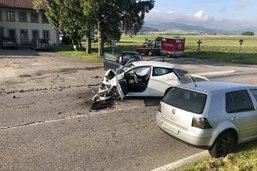 Accident impliquant trois véhicules à Autigny
