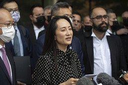 La dirigeante de Huawei de retour à Pékin qui libère deux Canadiens